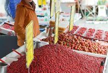 Mercados / Mercados de fruta, verdura y artesanía en España, Italia, Austria, Nicaragua, México, Uruguay etc.