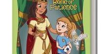 Esther: The Belle of Patience / The adventures of Rooney and Mari continue in Book Two of the Bible Belles series. With the help of her angel Mari, Rooney has learned that she has the power to talk to God through the amazing story of Hannah; now it's time for her to see how the Power of Patience can help her to wait and trust in Him.  As she watches Esther and her struggle to save her people, Rooney learns how to handle her own conflict on the soccer field by allowing God to lead her in His perfect time.