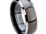 Tungsten Rings / These are the newest rings available from mensweddingbands.com