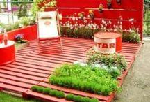 Paletten  Dekoration Ideen / Gartenmöbel, Gartenzäune usw. Selber bauen