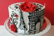 Paris / London / New York cakes