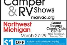 MARVAC Camper & RV Shows / Join us at any of our five Camper & RV Shows across Michigan's Lower Peninsula in Detroit (Fall & Winter), Flint, Traverse City and Battle Creek. / by Michigan Association of Recreation Vehicles and Campgrounds (MARVAC)
