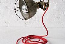 Vintage Industrial Lighting / #Construction #lighting #Lights #decorative #loft Lighting #industrial #Vintage #edison #old #renewlamps #vintagelamps