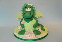 Dinosaur / Dragon cakes