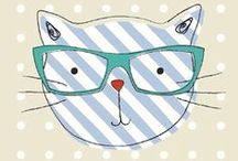 Cool Cats Fabric / NEW! A fun, quirky fabric for all you cat lovers!