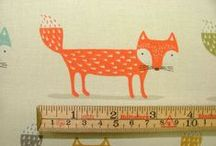 Foxy / A fun novelty fabric from Fryett's new for Summer 2016