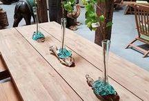 Om op te eten / We dekken de teaktafel op met tips over eten en drinken!