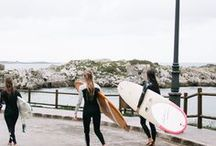 Billa Babes On The Road / We like to practice what we preach - Surf every wave like it's your last. Savour every last moment of sunlight until the very end of the day and always live to the fullest. This time, aficionados and surfer mates Lolita, Justine & Sirikit set off for an exciting 3-day surf trip through the North-West coast of Spain. We couldn't have been more excited to have our talented friend from California, Serena Lutton join the crew to capture this authentic journey.