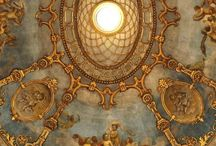 Old World Ceilings Ornamented and Handpainted / Unique and Beautiful Ceiling Designs  / by James Evinczik