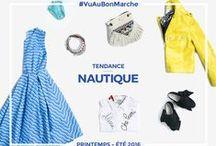 Tendance Nautique / La Rive Gauche prend le large avec la tendance nautique ! Plus féminin que jamais, l'univers marin inspire une élégance qui permet une belle décontraction. A découvrir au Bon Marché !
