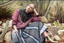 Tendance Desertic Gypsy / Des longues robes vaporeuses aux boléros en daim, la tendance Gypsy se pare de couleurs sablées, nuances chaudes qui inspirent à l'été 2016 un souffle d''aventure.
