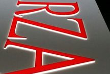 Acrylic Signs Exterior / Back lighted, edge lighted, pushthrough, etc.. / by Eric Miller