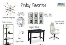 Friday Favorites / Favorite office chairs, office desks, bookcases and more from  OfficeFurniture.com. Create stylish offices and find design inspiration with our Friday Favorites board!