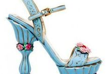 Art of Shoes & Bags ~ Shades of Sky Blue
