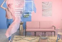 "Spring '16 Office Decor Inspired by Pantone / Pantone selects two colors for the ""Color of the Year"". The colors chosen for 2016 are Serenity and Rose Quartz. Get inspired with these spring-like colors and add some shabby chic accents to your office!"