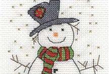 Новогодняя вышивка / Christmas  stitch, pics  Картинки, схемы, рисунки на новогоднюю тему