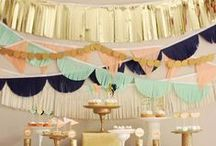 M E T A L L I C / On-trend wedding style of metallic accents and decor.