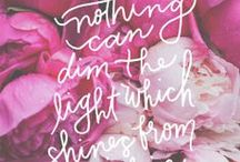Inspiration / Words that speak to us