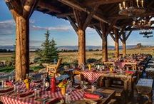Dining & Event Venues / Traditional restaurants? Forget it! At the ranch, you can choose from countless spaces that put you in the center of the ranch's breathtaking beauty.