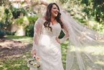 Bridal Gowns for the Curvy Bride / The most flattering silhouettes for the bride with curves