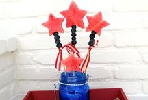 Patriotic Food & Crafts / Crafts and Food Crafts inspired by red, white and blue.