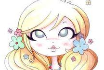 Illustrations - Cute Dolls / muñequitas