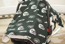 Baby Sports Theme / Are you a mommy or daddy who's an avid sports fan? We've got you covered! Check out these cute baby car seat covers, onesies and other baby apparel and gear for your sporty kid. Whether you enjoy football, baseball, soccer, basketball or some other sport, you'll surely find something you like on this fun baby pinterest board. / by Baby Blankets