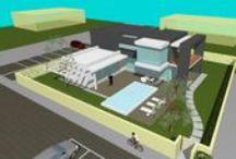 """Progetto """"villa Oliver"""" / Progetto preliminare per la realizzazione di una villa con piscina"""