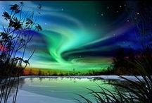 Night / Aurora Borealis ★ Northern Lights ★ Comets ★ Milky Way ★ Moon ★ Stars