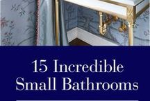 Small Bathrooms / Small Bathroom | Luxury freestanding sinks & bathtubs, wall mounted & countertop sinks, faucets & tub fillers • Functional & beautiful bathroom tips & trends | BadeloftUSA.com
