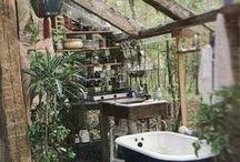 Natural Bathrooms / Natural Bathroom | Luxury freestanding sinks & bathtubs, wall mounted & countertop sinks, faucets & tub fillers • Functional & beautiful bathroom tips & trends | BadeloftUSA.com
