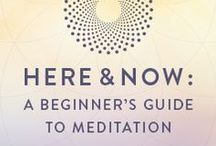 Here and Now Meditation Guide / Learn how to build your mindfulness practice with our 21-Day Beginner's Guide to Meditation. Reduce stress, build mental strength, and awaken to new possibilities! #MeditationChallenge #GaiamTV #MyYogaOnline