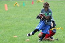 CRPD Roger Harper Football Camp / Our CRPD football camp is hosted by former OSU Buckeye and NFL star Roger Harper. For one week children get enjoy learning the fundamentals on football on the field, and the value of learning in the classroom. Currently, this camp is in its 14th year!