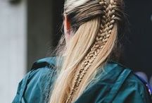 Braids / A selection of braided hairstyles.