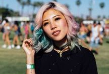 Festival Hairstyles / Whether you're attending Glastonbury festival or heading to Leeds or Reading Festival this year, take a look at our Festival Hair board for style inspiration.