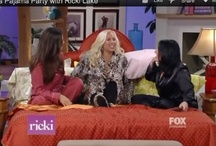 Pajama Party w/ Ricki Lake / On Election Day, 2012 I had the honor of being invited on the Ricki Lake Show. She turned her entire set into a bedroom, and I was interviewed in BED with her, and beautiful Miss America, Ali Landry. I've been pinching myself ever since...this was so much fun. To see the clip from the show go here: www.IHadTheStrangestDream.com