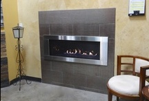 LHD45 Napoleon Linear Gas Fireplace / The LHD45 is an affordable modern design linear burner with many custom options for your home. / by Fireplace Warehouse ETC