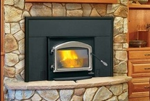 """EPI Napoleon Wood Inserts / The """"1402"""" is one of the most popular wood inserts around.  An easy way to upgrade your old fireplace to a more efficient wood burning appliance.  Also available in the smaller """"1101"""" for narrower fireplaces. / by Fireplace Warehouse ETC"""