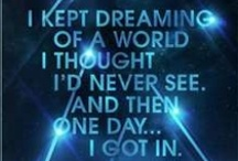 I kept dreaming of a world I thought I'd never see and then one day.. I got in ♥ / by Tiffany Minifie