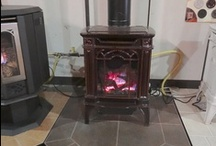 """GDS20 Napoleon """"Arlington"""" Gas Stove / The Arlington is great for smaller spaces.  Available in Black or Porcelain Brown to fit your design needs. / by Fireplace Warehouse ETC"""