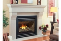 """Regency """"Panorama"""" Gas Fireplaces  / P36, P36D, and P42 Gas Fireplaces from Regency.  Great mid-size fireplace with several front and panel options. / by Fireplace Warehouse ETC"""
