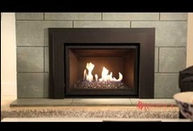 """Regency """"Horizon"""" Gas Inserts / Regency's popular """"Horizon"""" series is also available as Inserts as well.  Three sizes to choose from, each with several surround and modern media options. / by Fireplace Warehouse ETC"""