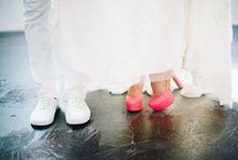 Mariage touche de fluo