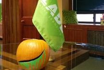 Blade's Google Pumpkin: Halloween 2013 / Google sent us a pumpkin this Halloween. And our creative minds went to work with it!  / by Blade Branding
