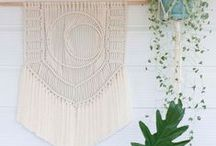 Knotty Bloom shop / Modern macramé pieces hand crafted for the home. Visit the shop here: www.knottybloom.etsy.com