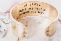 Quote Bracelets / Quote bracelets available at zennedout.com