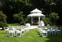 Weddings at Arrowhead Inn Bed & Breakfast / Guests of the Arrowhead Inn may utilize the gardens or Manor House for an intimate wedding!