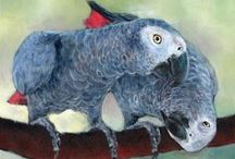 ART (Birds & Animals of all kinds) / Enjoyable paintings of birds & animals. / by Barbara Carrigan