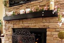kamenné obklady v interiéru / Dekorace stěny, cílové obklady