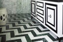 Art Deco Inspired Bathroom / #artdecobathroom #bathroom #artdeco